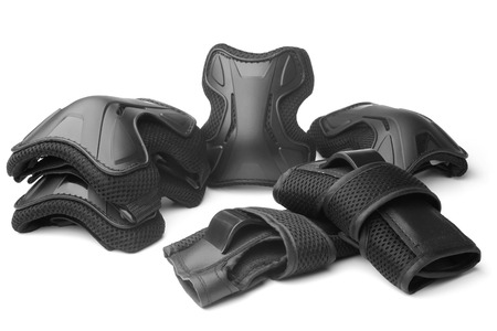 kneepad: Protective gear for multi sport on white background