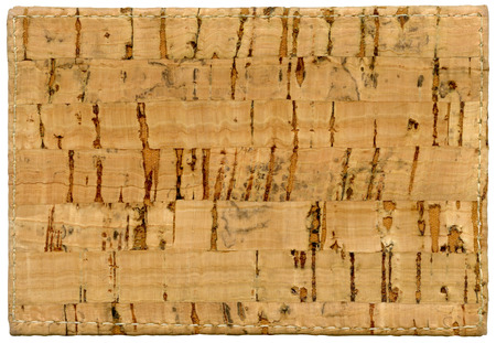 marco madera: Cork background texture isolated on white background