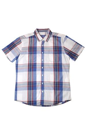 a shirt: Short sleeved shirt isolated on white background
