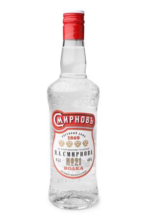 vodka bottle: ST. PETERSBURG, RUSSIA - May 29, 2016: Bottle of Vodka Smirnoff Editorial
