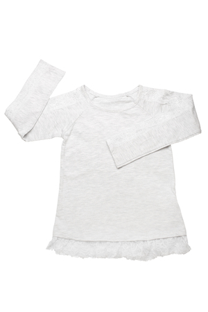 childrens wear: Childrens wear - shirt isolated on white background