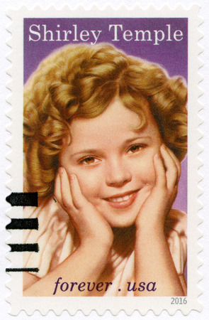 public servants: USA - CIRCA 2016: A stamp printed in USA shows Shirley Temple Black (1928-2014), television actress, singer, dancer, public servant, circa 2016