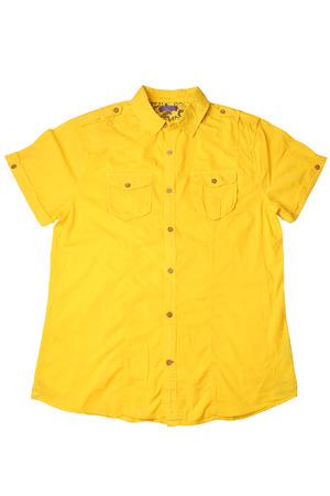 Short sleeved shirt isolated on white background
