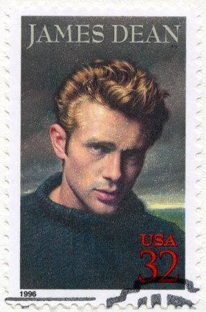 dean: USA - CIRCA 1996: A stamp printed in USA shows James Dean (1931-1955), actor, circa 1996 Editorial