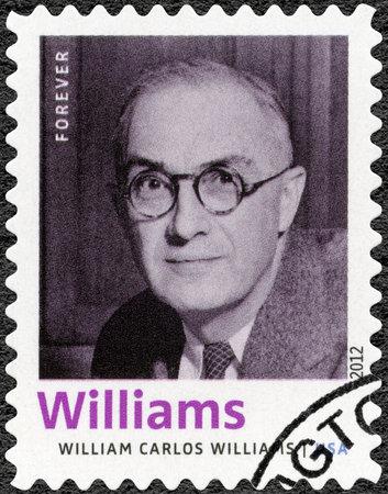 UNITED STATES OF AMERICA - CIRCA 2012: A stamp printed in USA shows William Carlos Williams (1883-1963), American poet, author, series Nobel Laureate in Literature, circa 2012