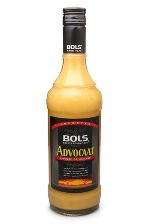 liqueurs: ST. PETERSBURG, RUSSIA - NOVEMBER 04, 2016: Bottle of Bols Advocaat Liqueurs, Netherlands
