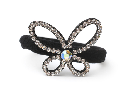 strass: Hair band with strass on white background