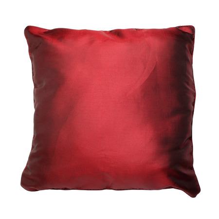 Satin cushion isolated on white background  Stock Photo