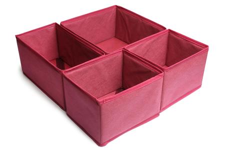 furniture store: Textile storage boxes on white background