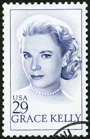 USA - CIRCA 1993: A stamp printed in USA shows Grace Patricia Kelly (1929-1982), actress, circa 1993