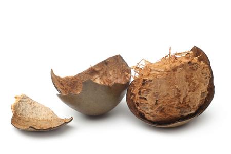 Siraitia grosvenorii (luo han guo) fruits on white background  Stock Photo