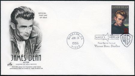 USA - CIRCA 1996: A stamp printed in USA shows James Dean (1931-1955), actor, circa 1996 Editorial