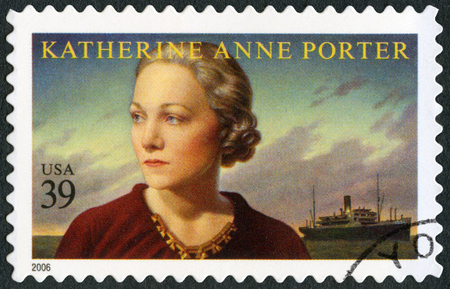 essayist: UNITED STATES OF AMERICA - CIRCA 2006: A stamp printed in USA shows Katherine Anne Porter (1890-1980), journalist and writer, literary arts series, circa 2006