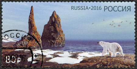 RUSSIA - CIRCA 2016: A stamp printed in Russia shows The Russian Arctic National Park, circa 2016