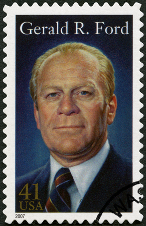 USA - CIRCA 2007: A stamp printed in USA shows Gerald Rudolph Ford (1913-2006), 38th President of the United States, circa 2007