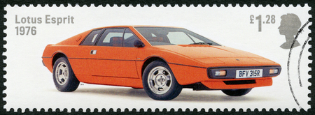 GREAT BRITAIN - CIRCA 2013: A stamp printed in Great Britain shows Lotus Esprit 1976, series British Auto Legends, circa 2013 Editorial