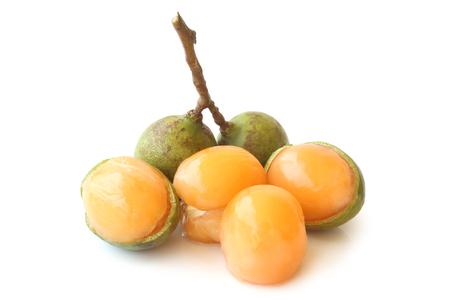 Quenepa fruit on white background Stock Photo