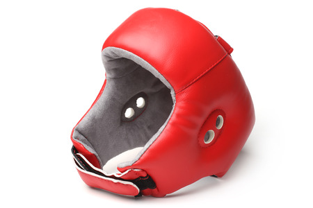 Boxing helmet on white background
