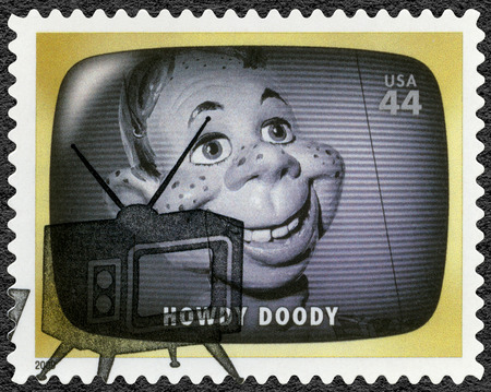 UNITED STATES OF AMERICA - CIRCA 2009: A stamp printed in USA shows Howdy Doody, childrens television programme, Early TV Memory, circa 2009