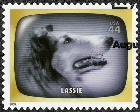 UNITED STATES OF AMERICA - CIRCA 2009: A stamp printed in USA shows Lassie, Early TV Memory, circa 2009