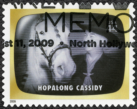 UNITED STATES OF AMERICA - CIRCA 2009: A stamp printed in USA shows Hopalong Cassidy, Early TV Memory, circa 2009