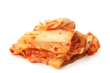 Kimchi on white background Stock Photo