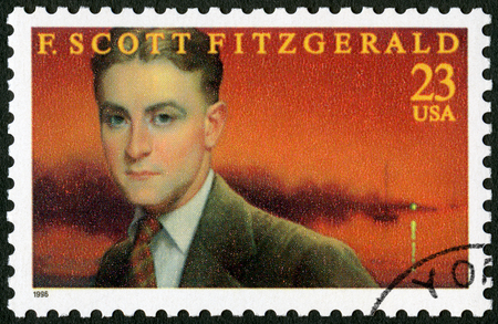 UNITED STATES OF AMERICA - CIRCA 1996: A stamp printed in USA shows Francis Scott Key Fitzgerald (1896-1940), series Literary Arts, circa 1996