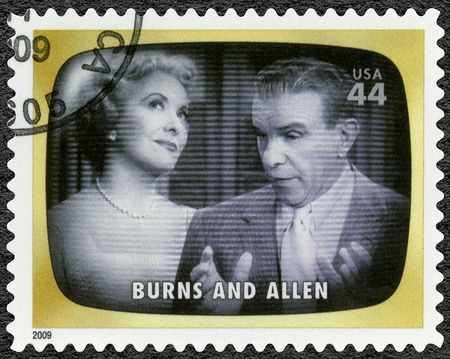 UNITED STATES OF AMERICA - CIRCA 2009: A stamp printed in USA shows Burns and Allen, Early TV Memory, circa 2009