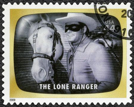VEREINIGTE STAATEN VON AMERIKA - CIRCA 2009: Eine in den USA gedruckte Briefmarke zeigt The Lone Ranger, Early TV Memory, circa 2009