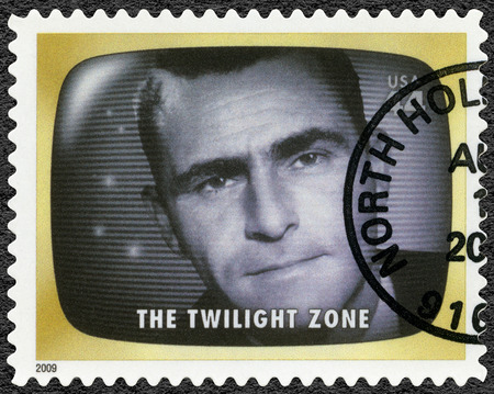UNITED STATES OF AMERICA - CIRCA 2009: A stamp printed in USA shows The Twilight zone, Early TV Memory, circa 2009 에디토리얼