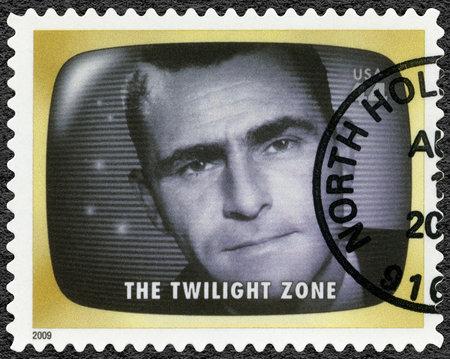 ESTADOS UNIDOS DE AMÉRICA - CIRCA 2009: Un sello impreso en EE. UU. Muestra La zona de Twilight, Early TV Memory, circa 2009 Editorial