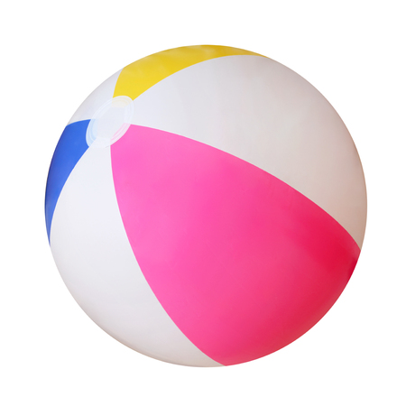 Beach ball isolated on white background