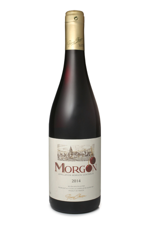 ST. PETERSBURG, RUSSIA - DECEMBER 25, 2016: Bottle of Pierre Chanau Morgon, France, 2014 Editorial