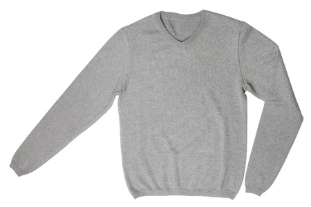 Gray sweater isolated on white background
