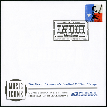 UNITED STATES OF AMERICA - CIRCA 2013: A stamp printed in USA shows Lydia Mendoza (1916-2007), series music icons forever, circa 2013