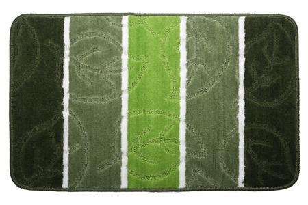 Bathroom rug isolated on white background Stock Photo