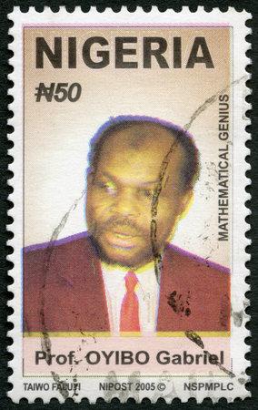 NIGERIA - CIRCA 2006: A stamp printed in Nigeria shows Professor Gabriel Oyibo Audu (born 1952), mathematician, circa 2006