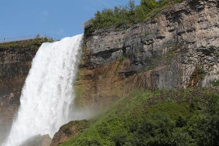 Niagara Falls (Bridal Veil Falls) dalla vista del paesaggio USA, un'immagine orizzontale Archivio Fotografico