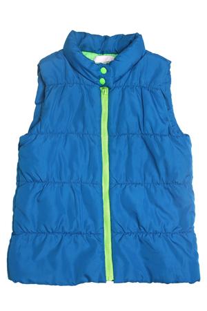 Children's warm waistcoat isolated on white background Stock Photo