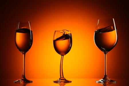 Three glasses of wine, horizontal picture