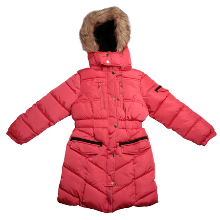 Children's  winter coat isolated on white background Stock Photo