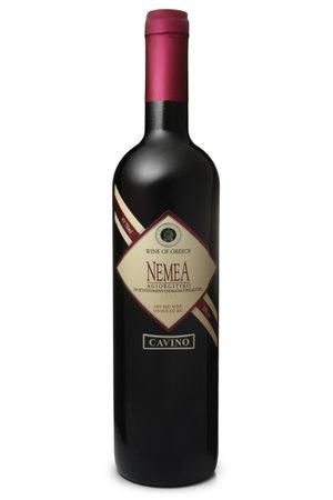 ST. PETERSBURG, RUSSIA - DECEMBER 25, 2016: Bottle of Cavino Nemea Agiorgitiko, Greece, 2013