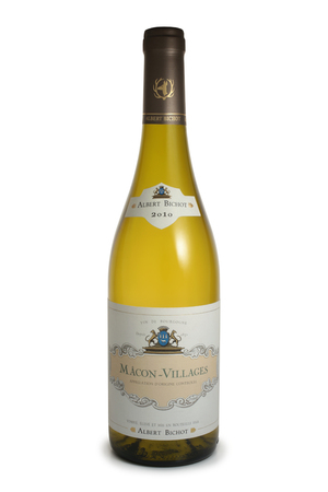 ST. PETERSBURG, RUSSIA - MAY 05, 2018: Bottle of Albert Bichot Macon-Villages, Burgundy, France, 2010
