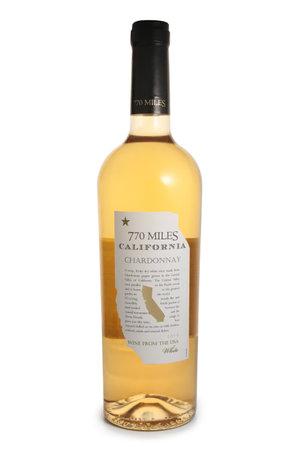 ST. PETERSBURG, RUSSIA - NOVEMBER 25, 2018: Bottle of 770 Miles, Chardonnay, USA, 2016