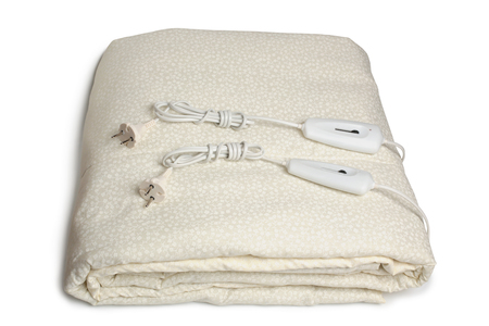 Electric blanket on white background