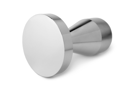 Coffee tamper on white background