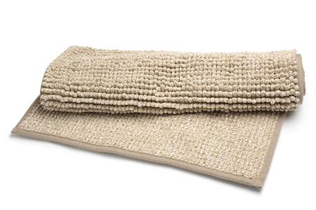 Bathroom rug on white background