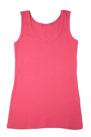 Womans pink sleeveless sports shirt isolated on white background Reklamní fotografie