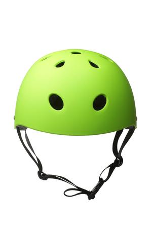 Green hard hat isolated on white background Reklamní fotografie