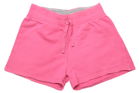 Childrens wear - pink shorts isolated on white background